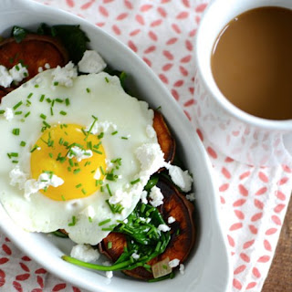 Sweet Potato and Spinach Breakfast Bowl