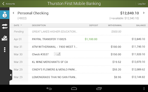 Thurston First Mobile Banking - screenshot thumbnail