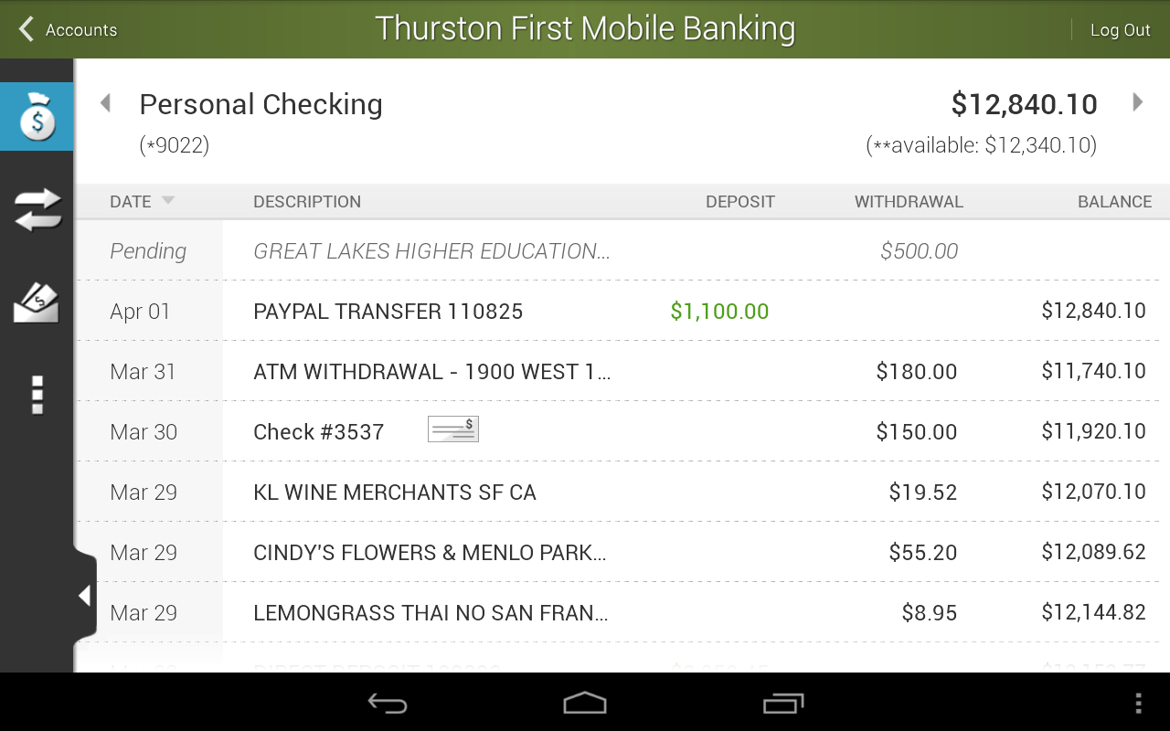 Thurston First Mobile Banking - screenshot