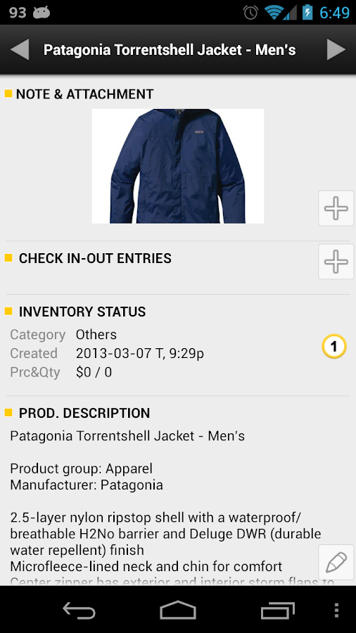 Barcode & Inventory Pro - screenshot