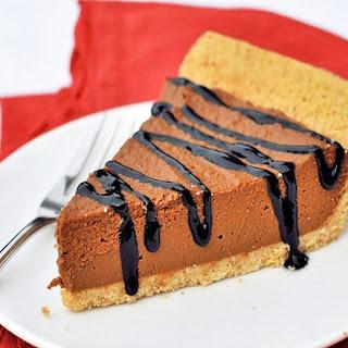 No Bake Chocolate Pumpkin Pie