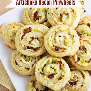 Artichoke Bacon Pinwheels.