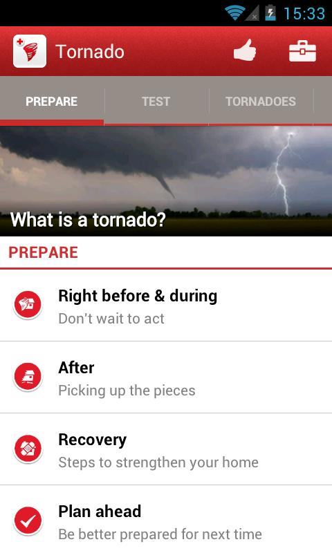 Tornado - American Red Cross - screenshot