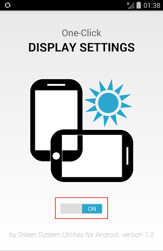 One-Click Display Settings