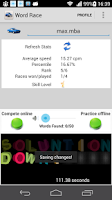 Screenshot of Word race