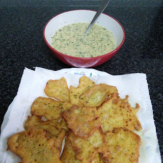 Chickpea Fritters.