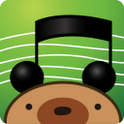 "Music Bear ""ENJOY FREE MUSICS"" icon"