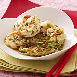 Spicy Wok Seared Shrimp.