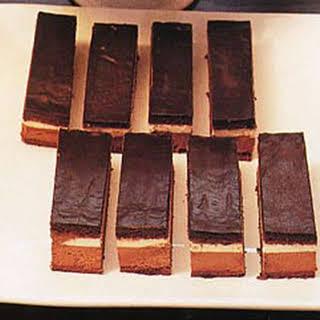 Hungarian Chocolate Mousse Cake Bars.