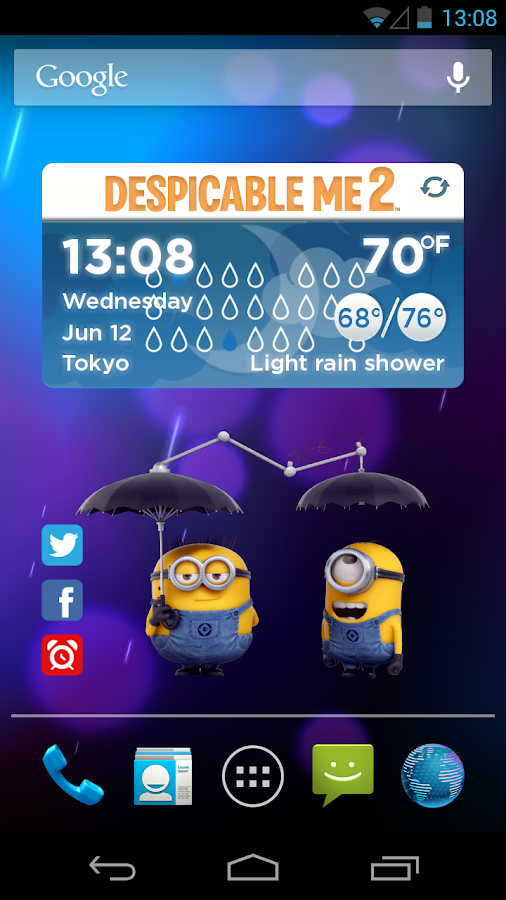 DESPICABLE ME WEATHER WIDGET - screenshot