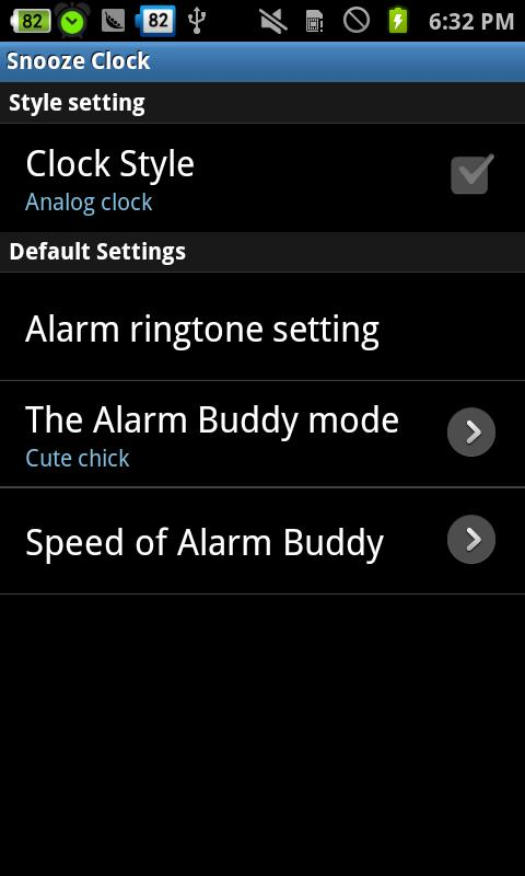 Snooze Clock - Friendly clock- screenshot