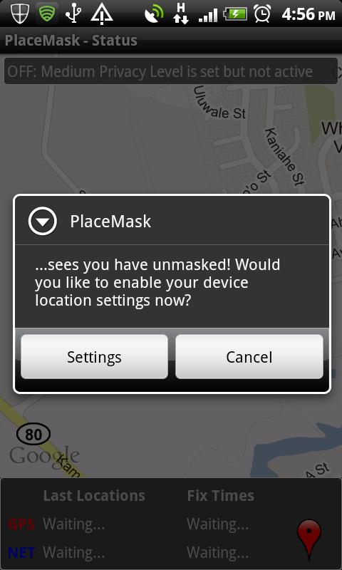 Location Privacy - screenshot