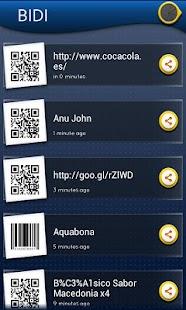 BIDI: lector QR y de barras - screenshot thumbnail