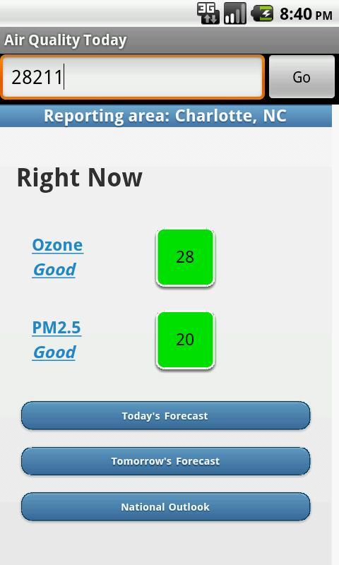 Air Quality Today- screenshot