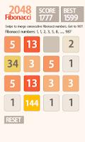 Screenshot of 2048 Fibonacci