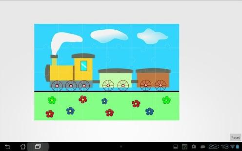 【免費解謎App】Kids train jigsaw puzzles full-APP點子