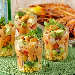 Mexican Corn and Prawn Salad