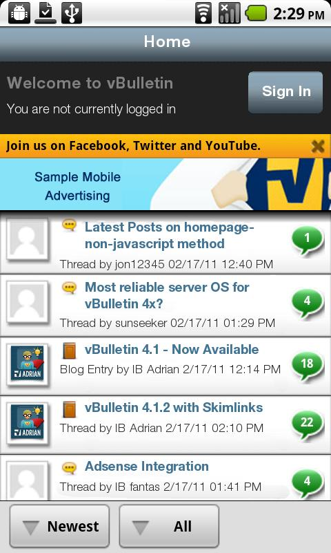 Astel Forum Mobile- screenshot