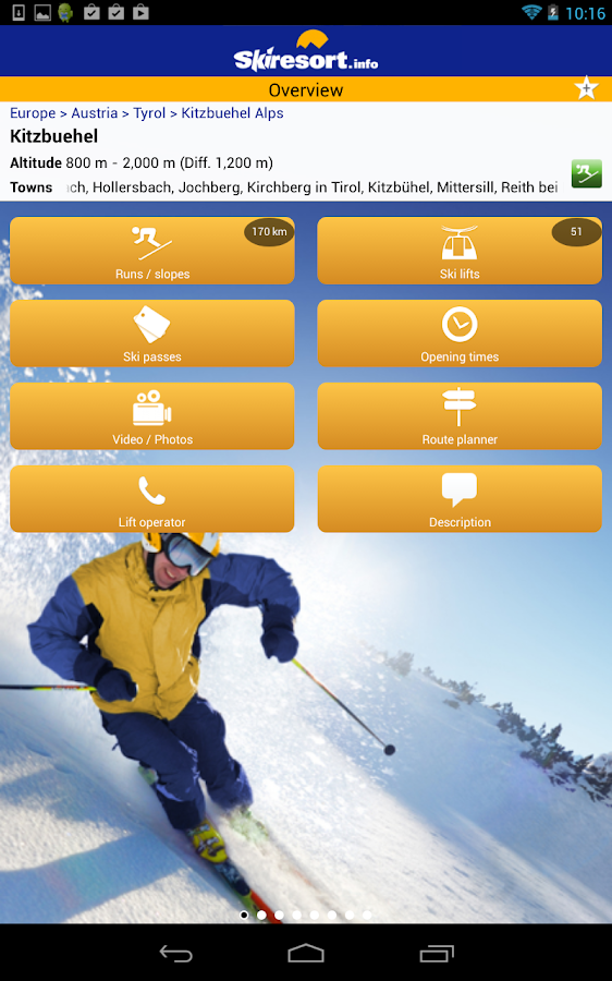 Skiresort.info – ski app- screenshot
