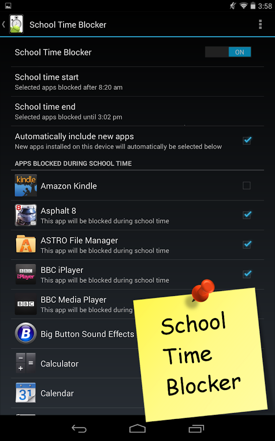Screen Time Parental Control - screenshot