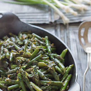 Asparagus and Caramelized Spring Onion Saute