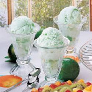 Creamy Lime Sherbet