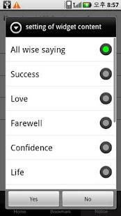 Wise saying (widget)- screenshot thumbnail