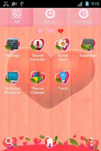 GO Launcher EX Valentine Heart - screenshot thumbnail