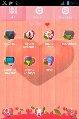 Valentine Heart Launcher Theme- screenshot