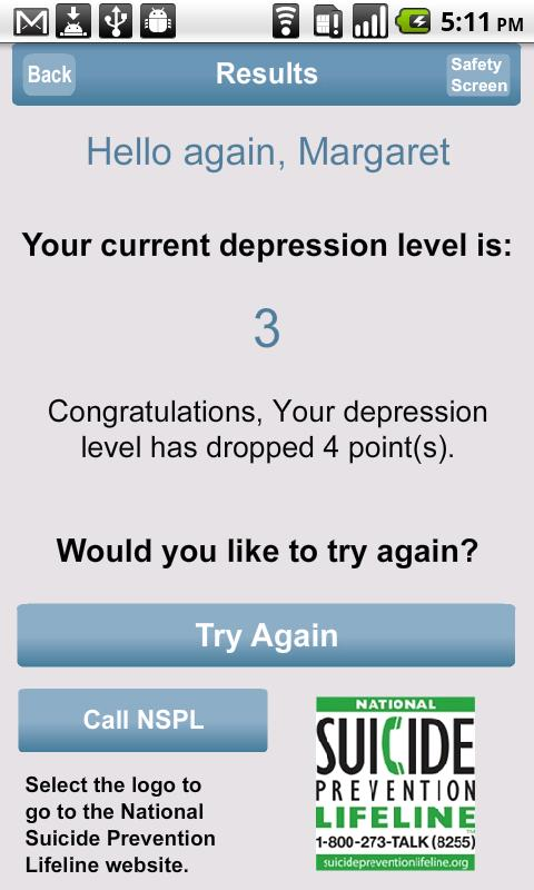 Depression - screenshot