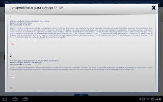 Screenshot of Lei de Falências 2a Ed. Tablet