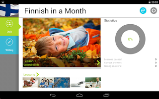 Screenshot of Finnish in a Month