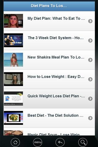 Diet plans to lose weight VDO