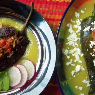 Chile Ancho and Poblano Rellenos