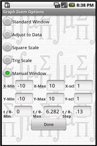 MathPac+ Graphing Calculator - screenshot