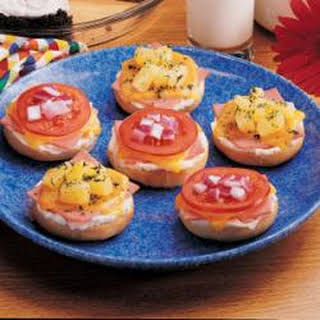 Ham and Cheese Bagels.