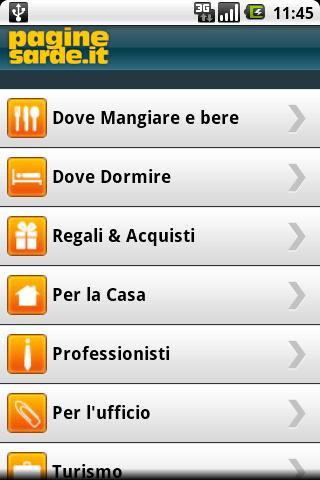 PagineSarde- screenshot
