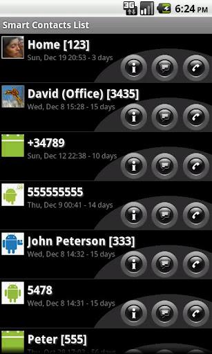 Smart Contacts Widget