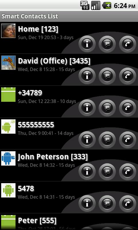 Smart Contacts Widget- screenshot