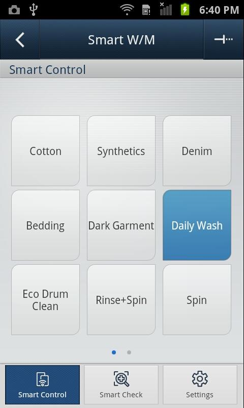 samsung smart washer dryer android apps on google play. Black Bedroom Furniture Sets. Home Design Ideas