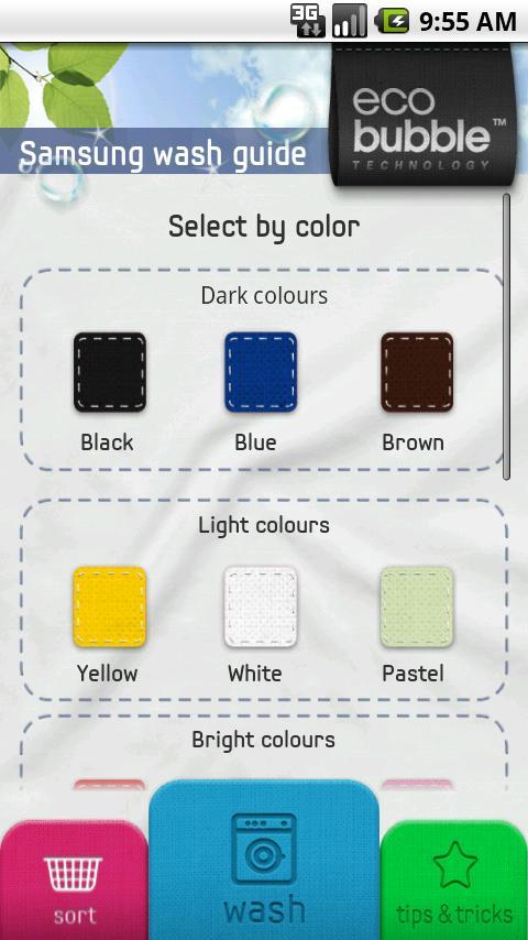 Samsung Wash Guide – Screenshot