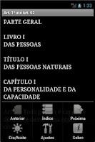 Screenshot of Código Civil