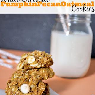 White Chocolate Pumpkin Pecan Oatmeal Cookies