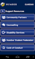 Screenshot of Humber Guardian