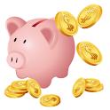 貯まる家計簿 logo