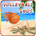 Volleyball shoot game icon