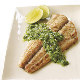 Mahi-Mahi with Fresh Cilantro Chutney.