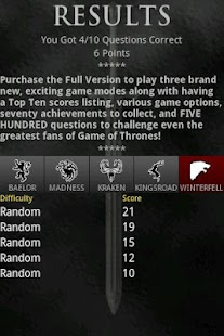 Game of Thrones Trivia - screenshot thumbnail
