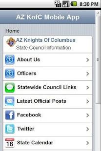 AZ KofC Mobile App- screenshot thumbnail