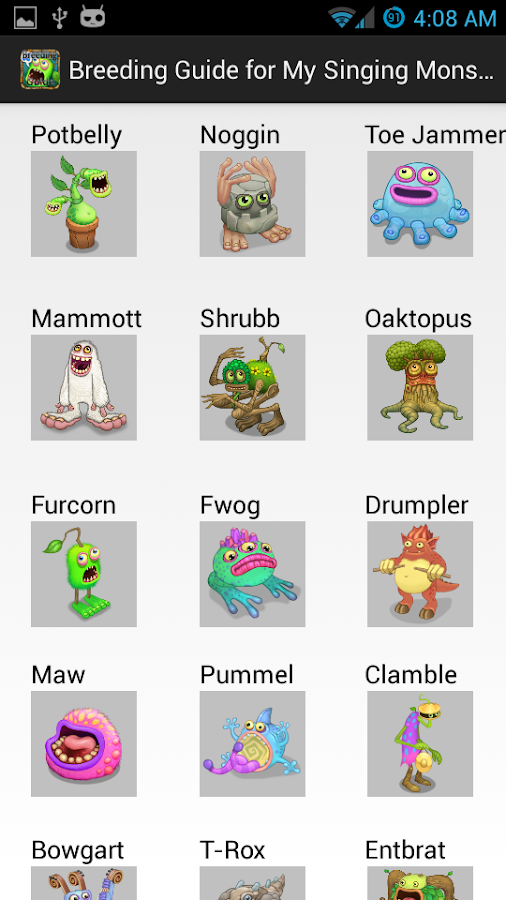 My singing monsters breeding guide with pictures short news poster